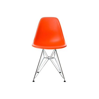 EPC DSR P.Side Chair - base chrome-plated - poppy red  Vitra.