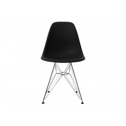 EPC DSR P.Side Chair - base chrome-plated - black  Vitra.