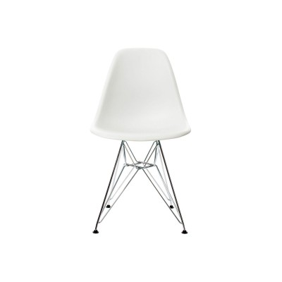EPC DSR P.Side Chair - base chrome-plated - white  Vitra.