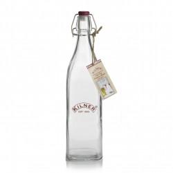 Vierkante fles met beugelsluiting uit plastic 1L