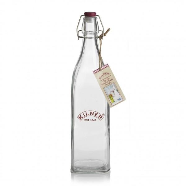 Kilner Inmaakglazen en -bokalen Vierkante glazen fles met beugelsluiting 1L