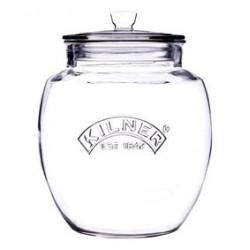 Universal glazen voorraadbokaal met klemdeksel 4L