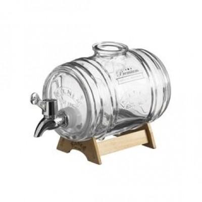 Drankdispenser Barrel met houten staander 1L  Kilner