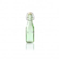 vierkante fles met beugelsluiting groen 250ml