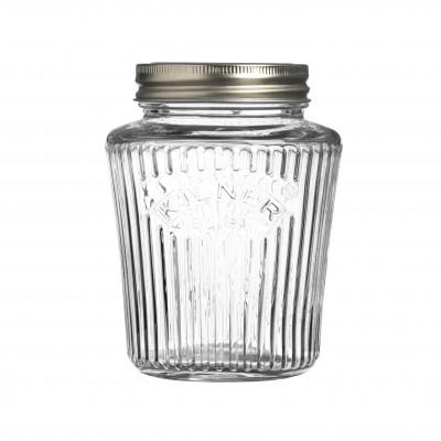 Vintage glazen inmaakbokaal 500ml  Kilner