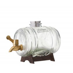 Drankendispenser Barrel met koperkleurig kraantje en staander 1L