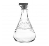 Glazen olie- of azijnfles met silicone dop 500ml