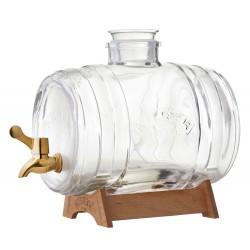 Drankendispenser Barrel met koperkleurig kraantje en staander 3.5L