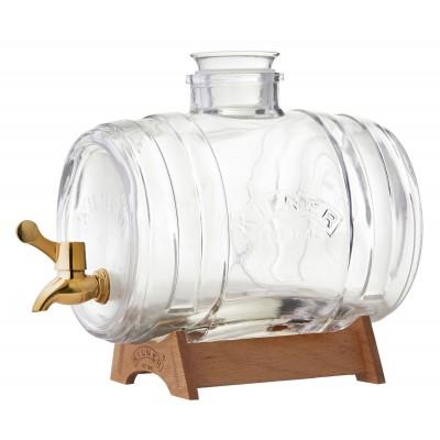 Drankdispenser Barrel met koperkleurig kraantje en staander 3.5L  Kilner