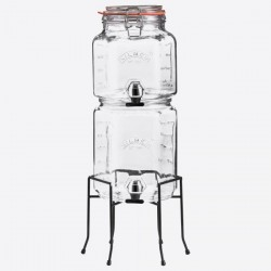 set van 2 stapelbare drankdispensers met houder 2L & 3L