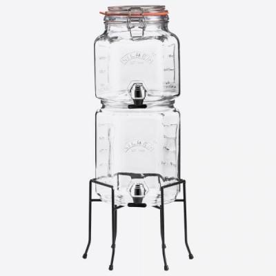 Set van 2 drankdispensers met houder in cadeauverpakking  2L & 3L  Kilner