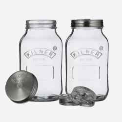 Set om te fermenteren met 2 glazen bokalen 1L
