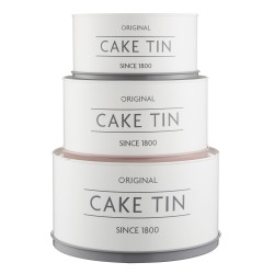 Innovative Kitchen set van 3 voorraadblikken Cake Tin
