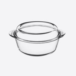Classic Collection ronde ovenschaal met deksel uit glas 2L