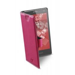 Book universeel smartphone XL roze