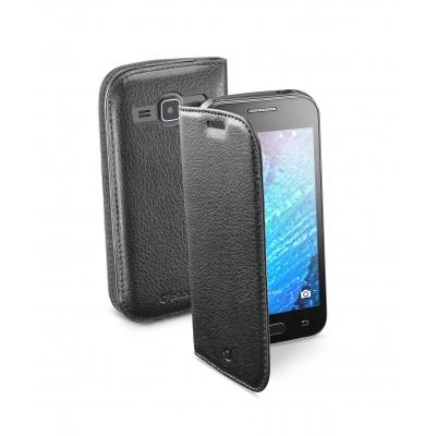 Samsung Galaxy J1 housse book essential noir Cellularline