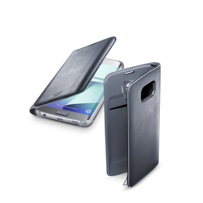 Samsung Galaxy S7 Edge hoesje flip book zwart Cellularline