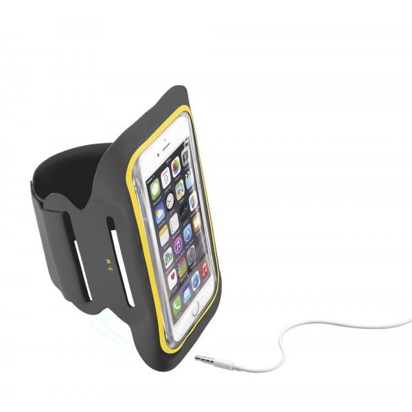 "Cellularline Armband fitness tot 5.2"" microfiber zwart"