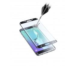 Samsung Galaxy S6 Edge Plus screen protector gehard glas gebogen zwart Cellularline