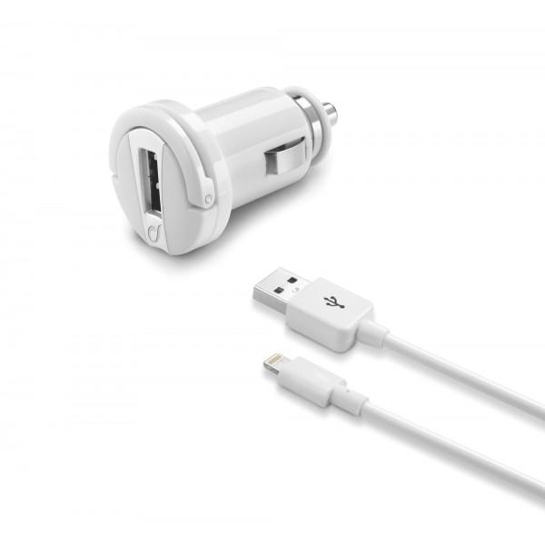 Cellularline Autolader Autolader kit 10W/2A lightning Apple wit