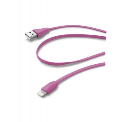 Data câble Apple lightning flat rose Cellularline