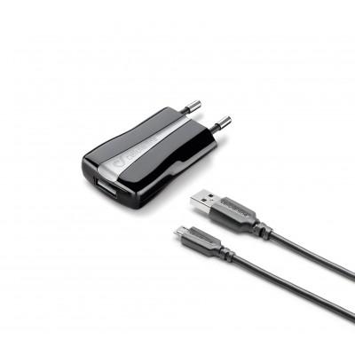Chargeur secteur kit 5W/1A micro-usb Huawei & autres noir Cellularline