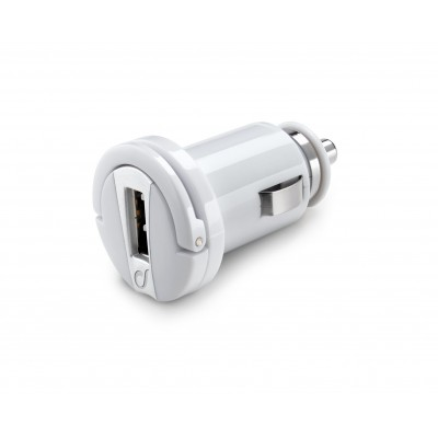 Chargeur voiture usb 10W/2A Apple blanc Cellularline