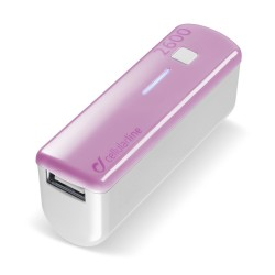 Draagbare lader usb pocket 2600mAh roze