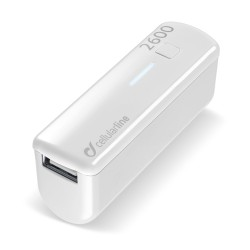 Draagbare lader usb pocket 2600mAh wit