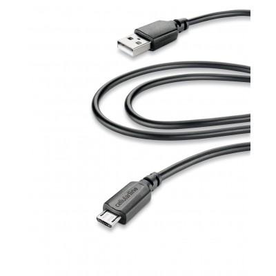 Data câble home micro-usb (2m) tablet noir Cellularline
