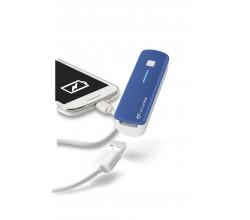 Draagbare lader usb smart 2200mAh blauw Cellularline