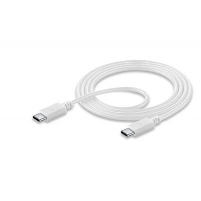 Usb kabel usb-c naar usb-c 12m wit Cellularline