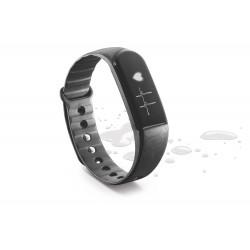 Fitness tracker touchscreen BT hartslag monitor zwart