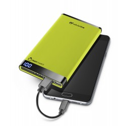 Draagbare lader dual usb free power manta 6000mAh slim groen