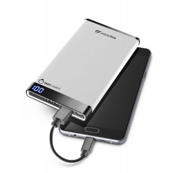 Draagbare lader dual usb free power manta 6000mAh slim wit