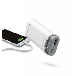 Draagbare lader free power dual 5200mAh wit