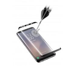 Samsung Galaxy S8 SP gehard glas gebogen zwart Cellularline