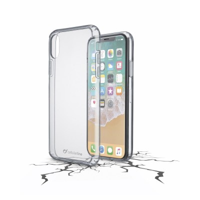 iPhone Xs/X coque clear duo transparent Cellularline