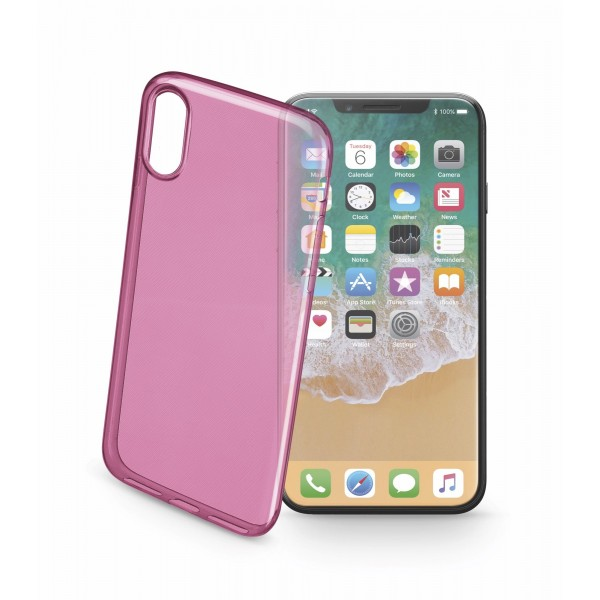Cellularline Smartphonehoesje iPhone Xs/X cover color roze
