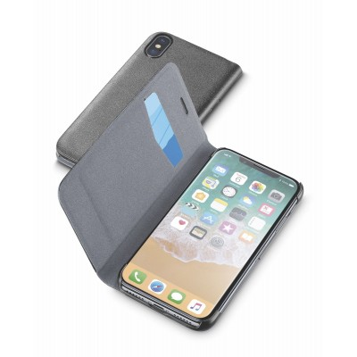 iPhone Xs/X hoesje book essential zwart Cellularline