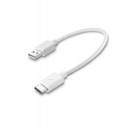 Usb kabel usb-a naar usb-c 15cm wit