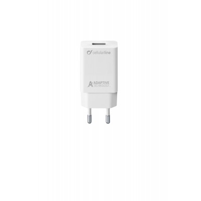 Reislader usb 15W Samsung adaptive wit Cellularline