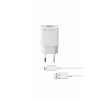 Chargeur secteur kit 5W/1A micro-usb Samsung blanc Cellularline