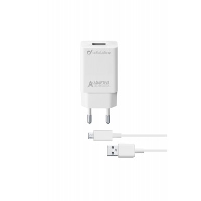 Reislader kit 15W micro-usb Samsung adaptive wit Cellularline