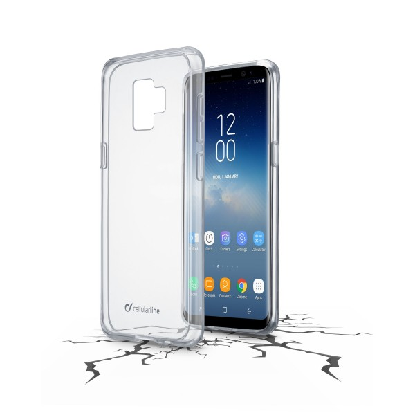 Cellularline Smartphonehoesje Samsung Galaxy S9 hoesje clear duo transparant