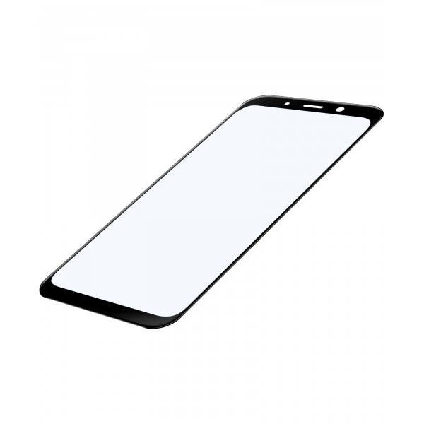 Cellularline Samsung Galaxy A8 (2018) SP gehard glas capsule zwart
