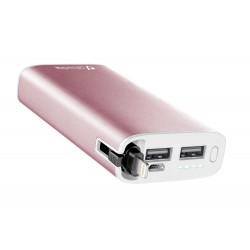 UD draagbare lader usb 6700 mAh Apple roze