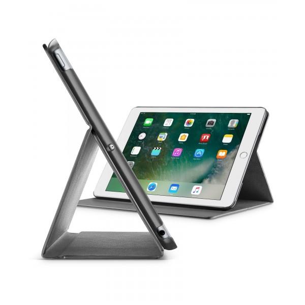 "Cellularline iPad 97"" (2018) hoesje slim stand zwart"