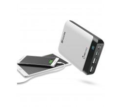 Draagbare lader powerup 10000mAh usb-c/micro-usb wit Cellularline