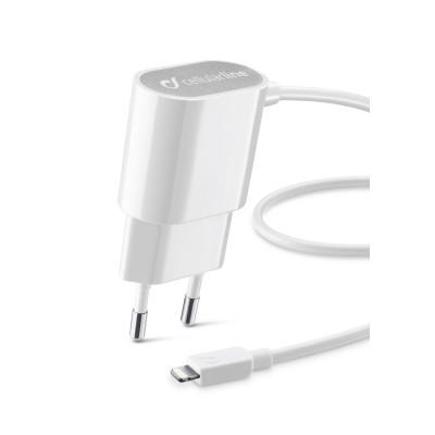 CLB Chargeur secteur Apple lightning blanc Cellularline